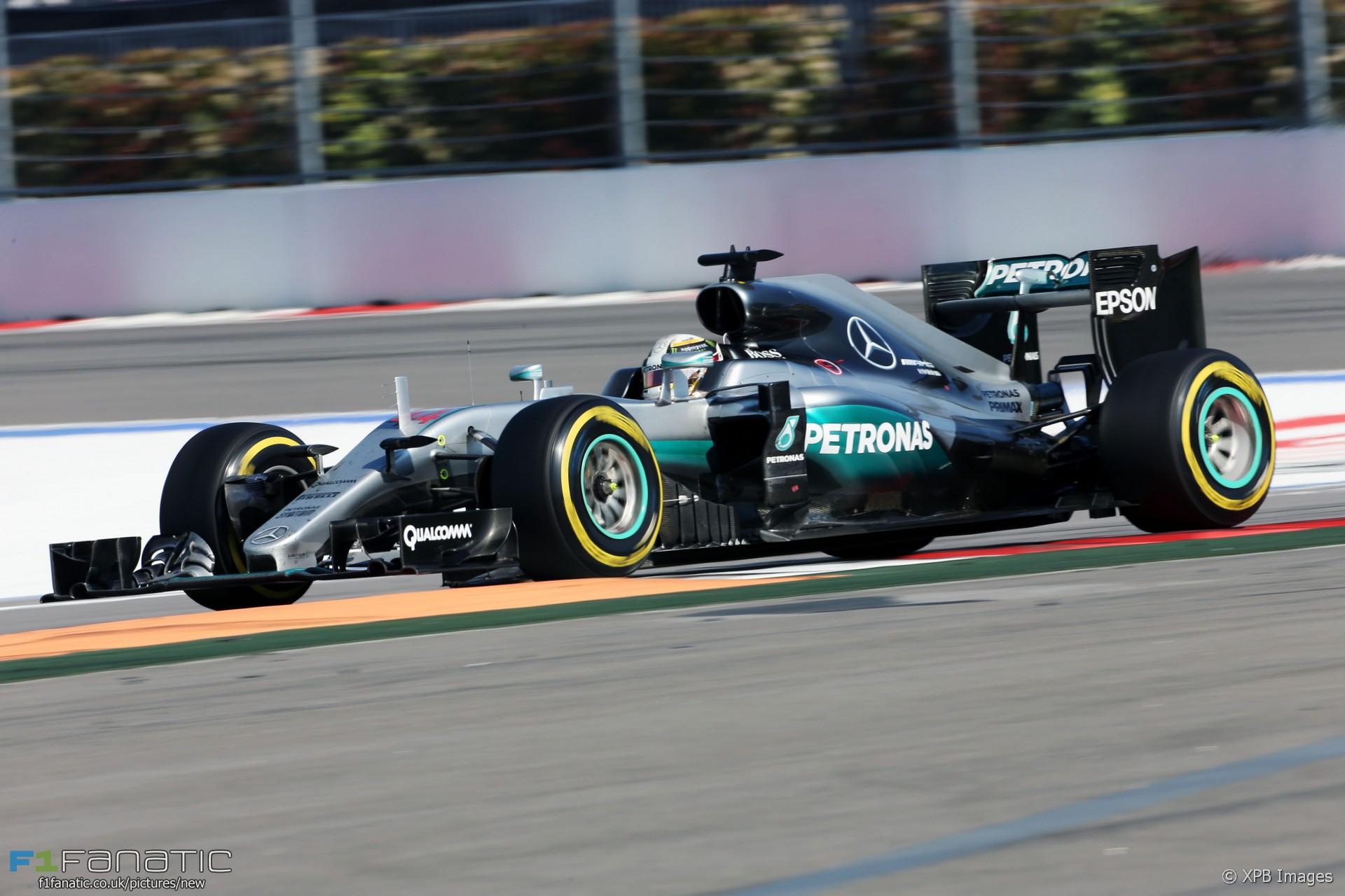 Lewis Hamilton, Mercedes, Sochi Autodrom, 2016