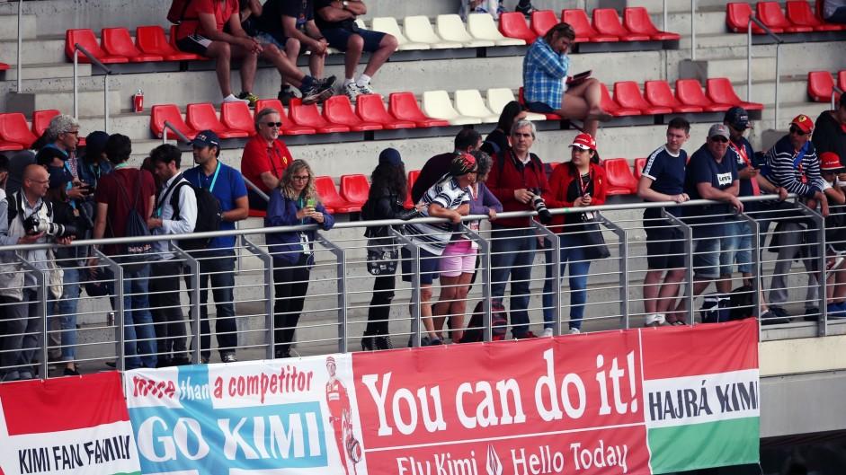 Kimi Raikkonen fans, Circuit de Catalunya, 2016