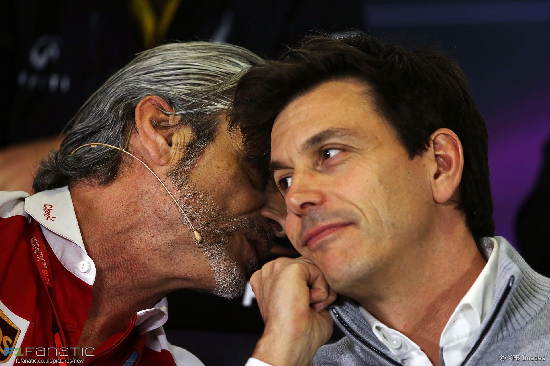 Maurizio Arrivabene, Toto Wolff, Toro Rosso, Circuit de Catalunya, 2016