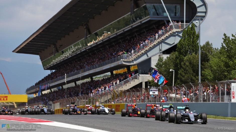 Start, Circuit de Catalunya, 2016