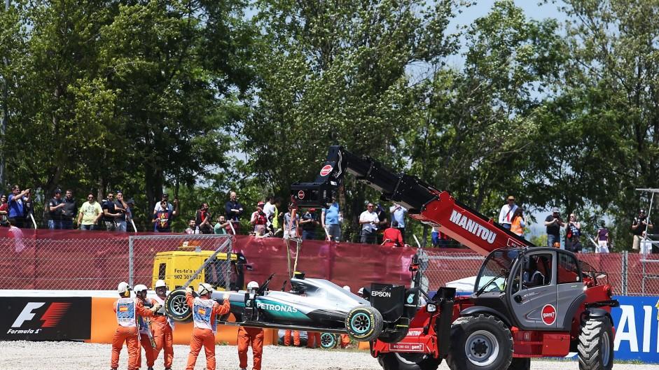 "Rosberg ""very surprised"" Hamilton tried to pass on inside"