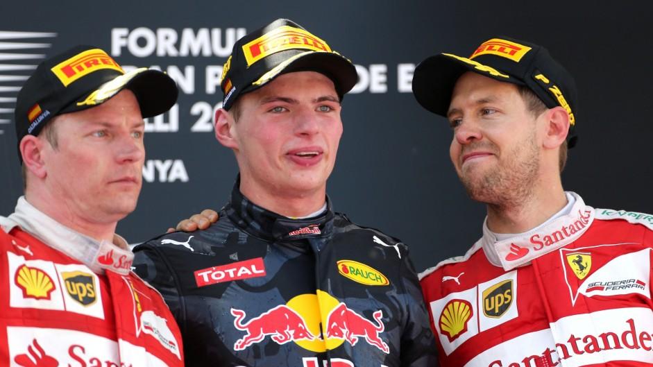 Kimi Raikkonen, Max Verstappen, Sebastian Vettel, Circuit de Catalunya, 2016