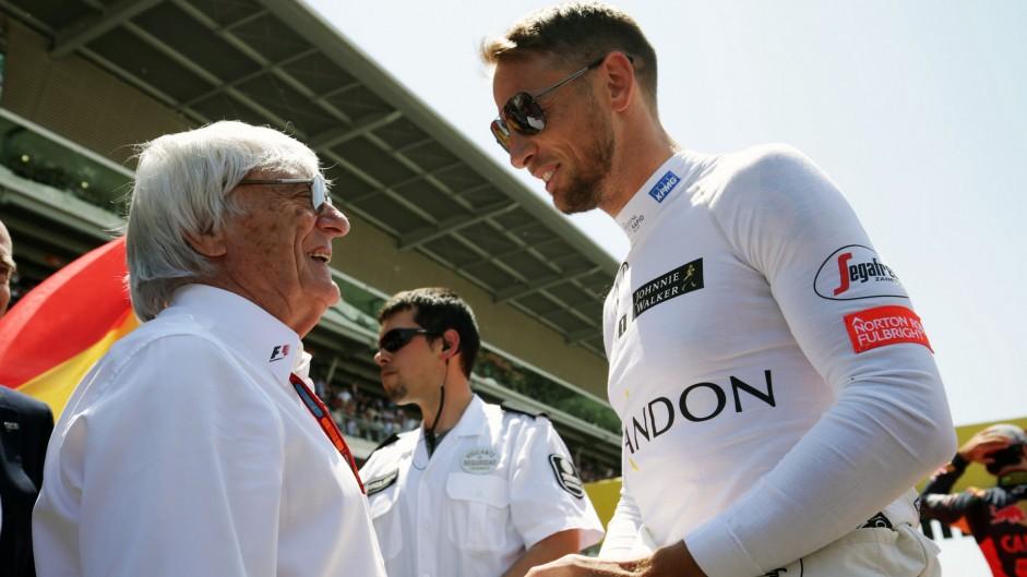 Bernie Ecclestone, Jenson Button, Circuit de Catalunya, 2016
