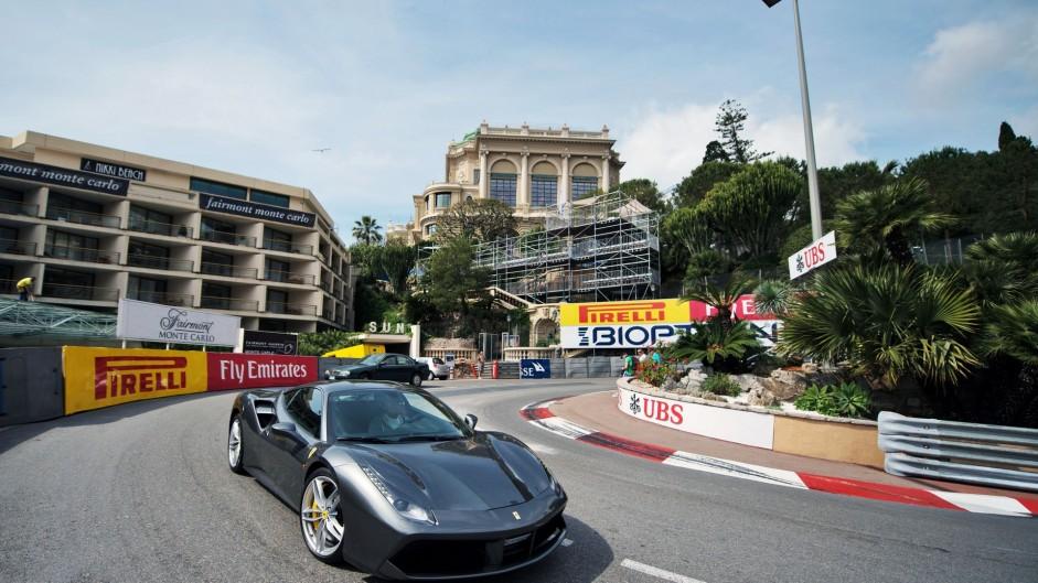 Fairmont hotel hairpin, Monte-Carlo, Monaco, 2016