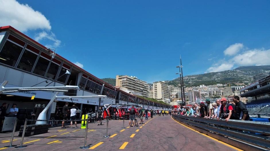 Pit lane, Monte-Carlo, Monaco, 2016