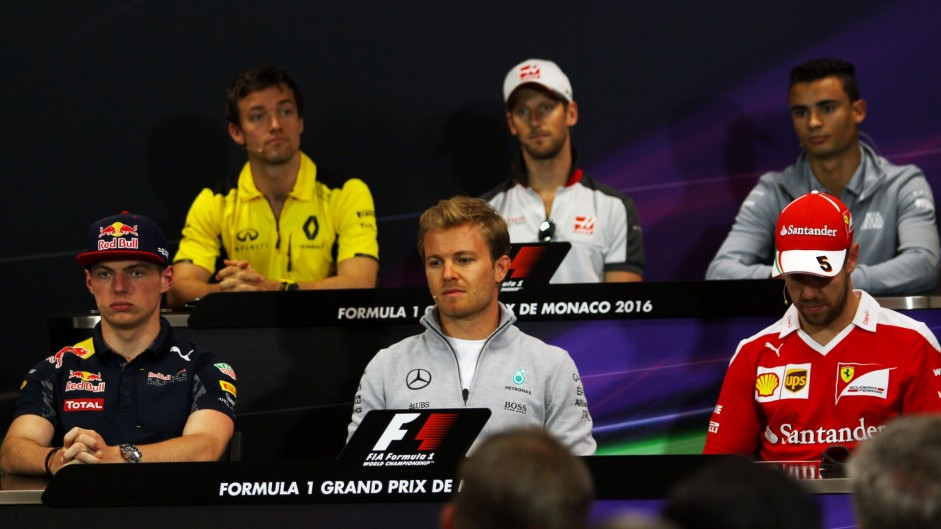 Max Verstappen, Nico Rosberg, Sebastian Vettel, Monte-Carlo, 2016