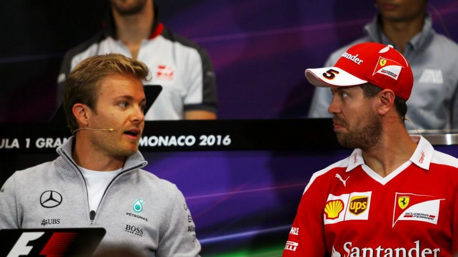 Nico Rosberg, Sebastian Vettel, Monte-Carlo, 2016