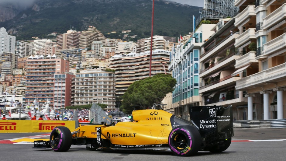 Kevin Magnussen, Renault, Monte-Carlo, 2016