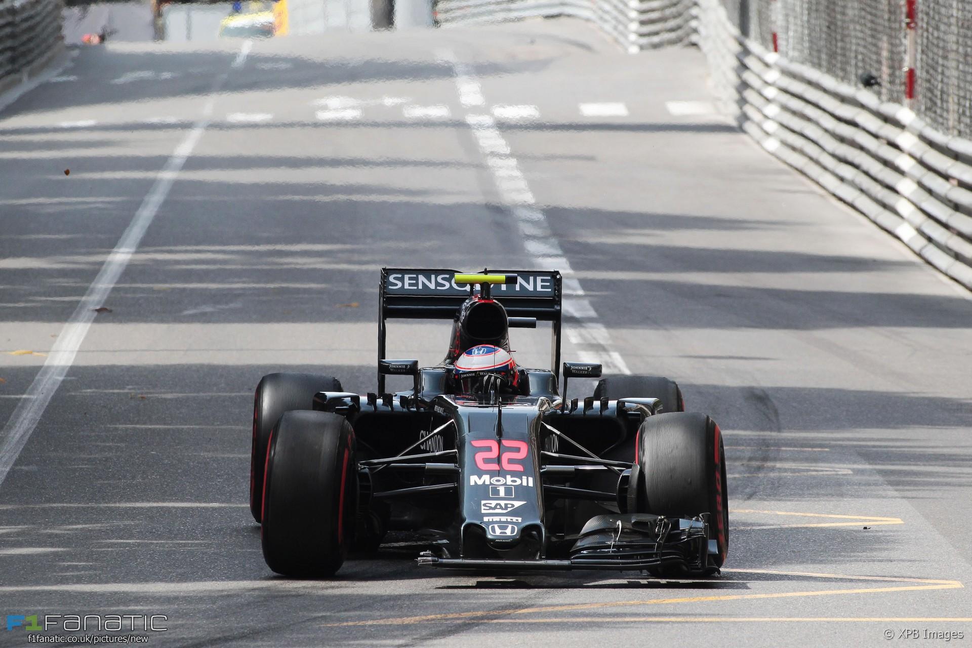 Jenson Button, McLaren, Monte-Carlo, 2016