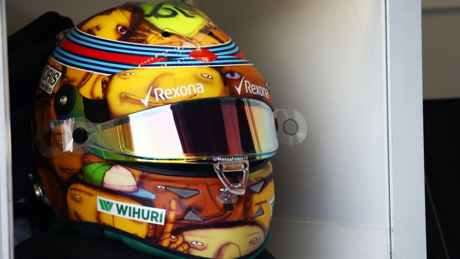 Felipe Massa's helmet, Williams, Monte-Carlo, 2016