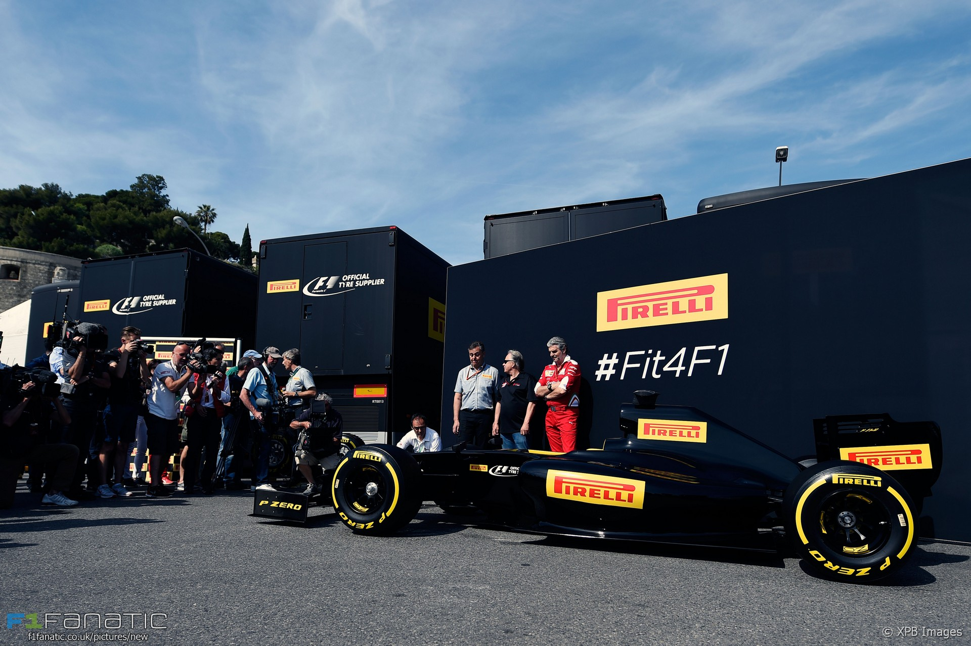Pirelli 2017 F1 tyres mock-up, Monaco, 2016
