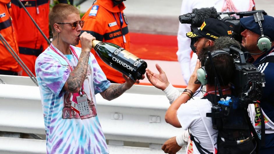 Justin Bieber, Lewis Hamilton, Monte-Carlo, 2016