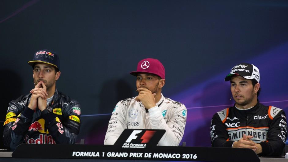 Daniel Ricciardo, Lewis Hamilton, Sergio Perez, Monte-Carlo, 2016