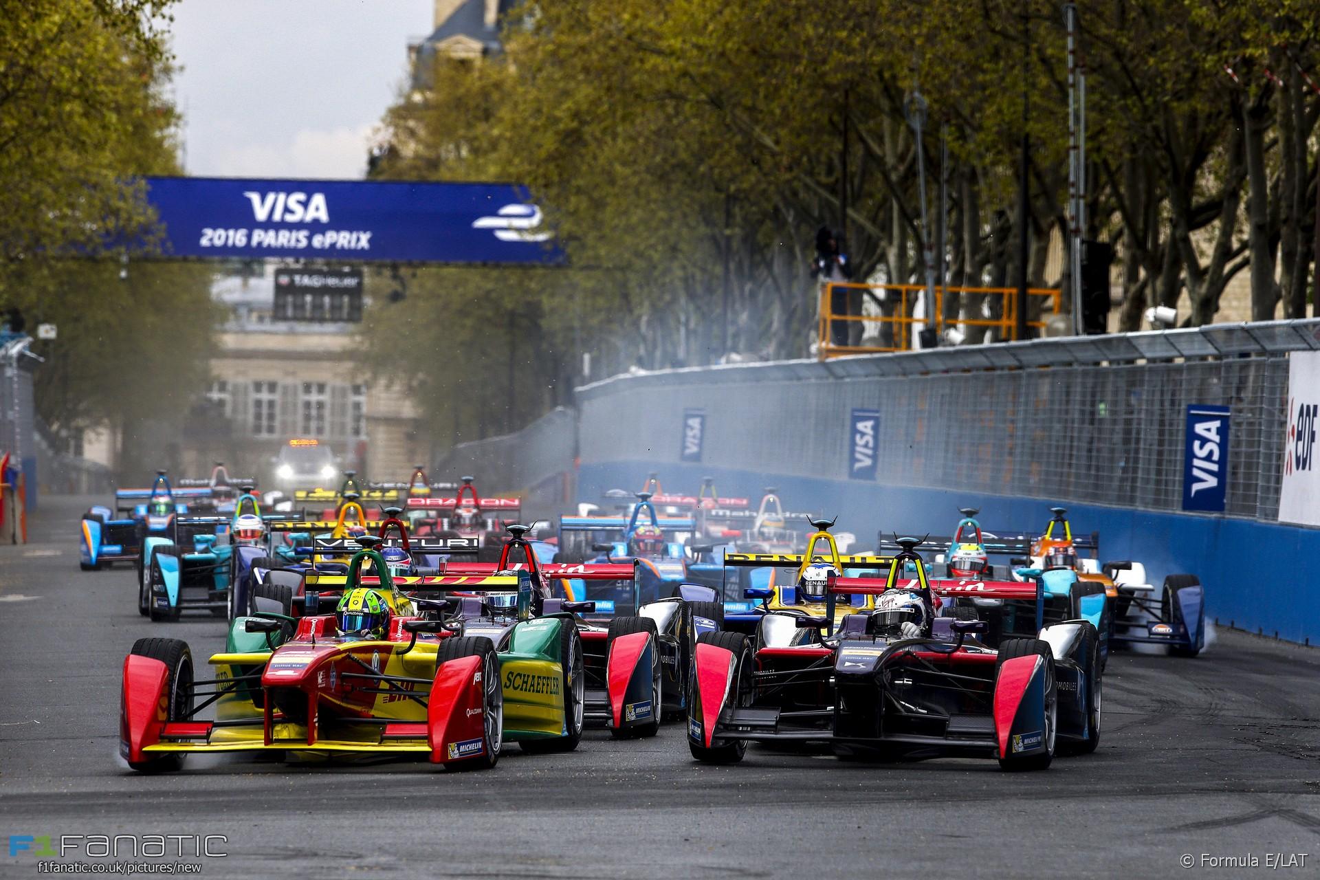 Start, Formula E, Paris, 2016