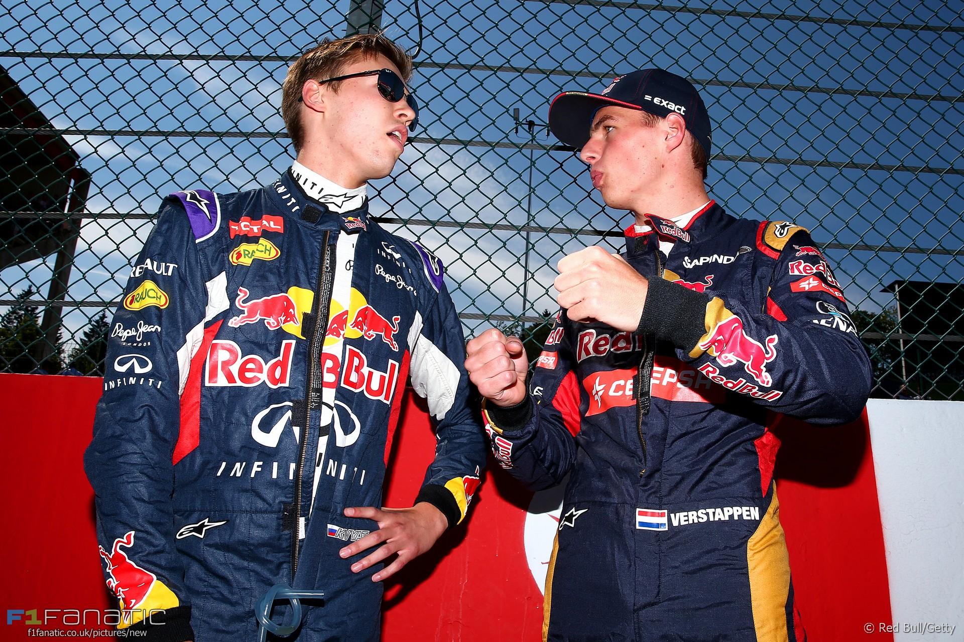 Daniil Kvyat, Max Verstappen, Spa-Francorchamps, 2015