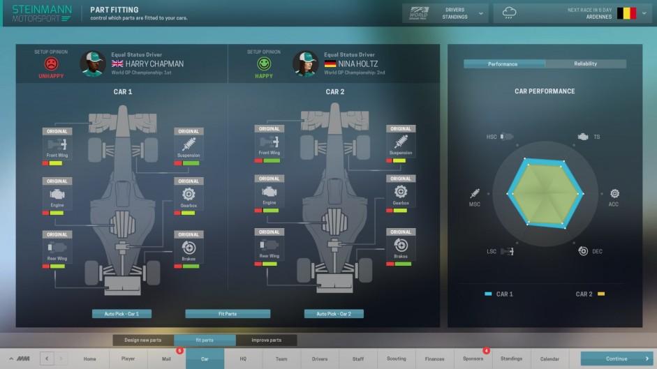 Motorsport Manager game work-in-progress screenshot