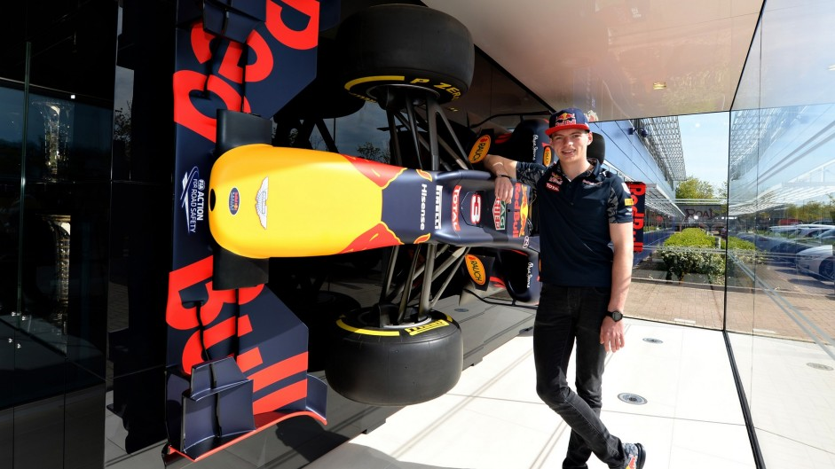 Verstappen makes first appearance as Red Bull driver
