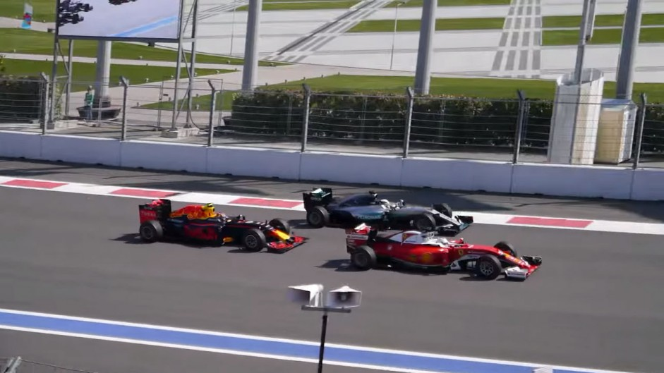 Fan video shows Kvyat causing Vettel's race-ending crash