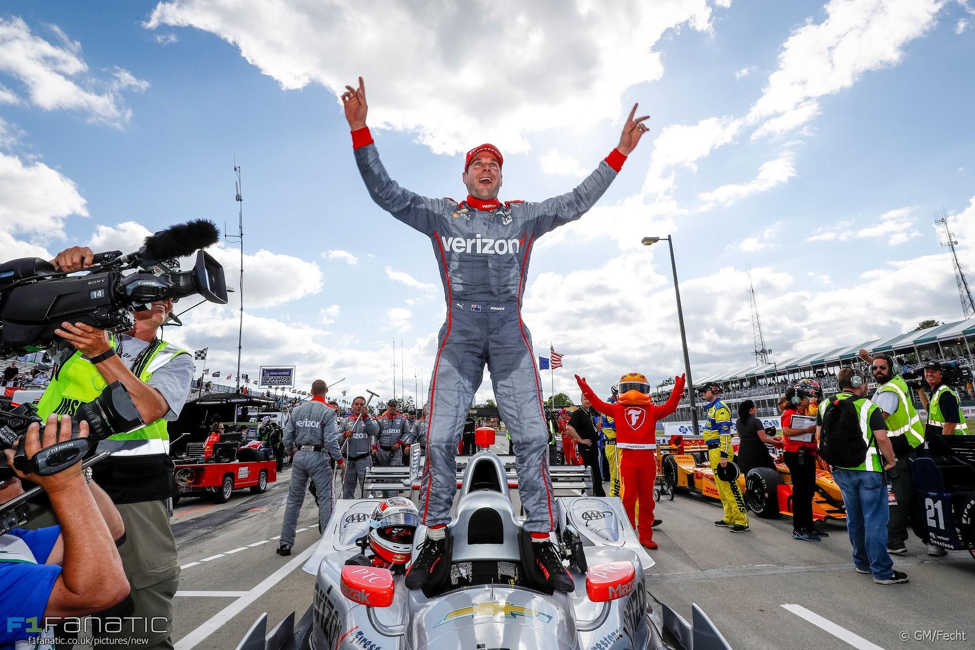Will Power, Penske, IndyCar, Dual in Detroit race two, 2016