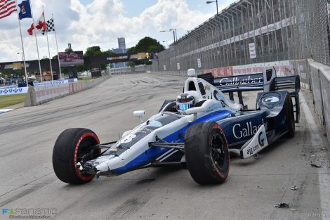 Max Chilton, Ganasii, IndyCar, Dual in Detroit race two, 2016
