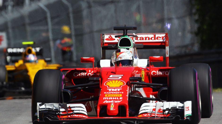 Sebastian Vettel, Ferrari, Circuit Gilles Villeneuve, 2016