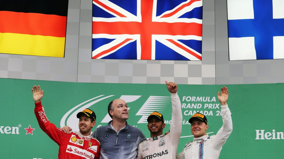 Sebastian Vettel, Lewis Hamilton, Valtteri Bottas, Circuit Gilles Villeneuve, 2016
