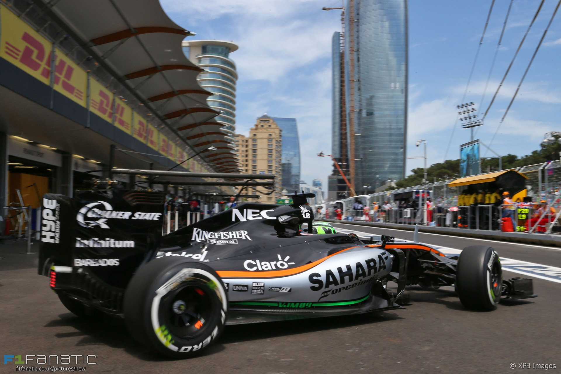 nico hulkenberg force india baku city circuit 2016 f1 fanatic. Black Bedroom Furniture Sets. Home Design Ideas