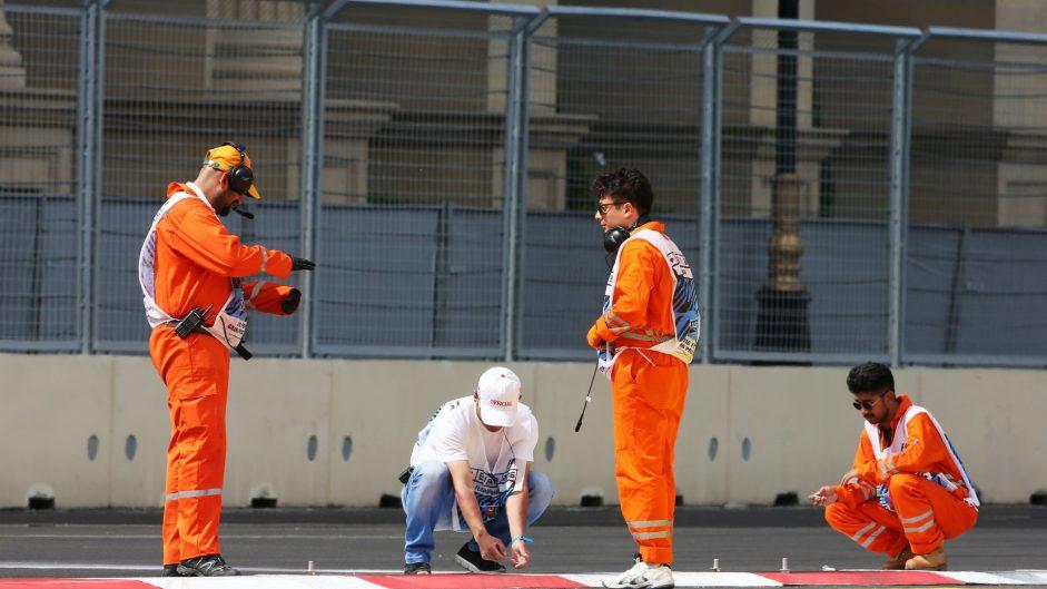 Changes to kerbs and pit lane entrance at Baku