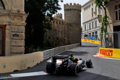 Sergio Perez, Force India, Baku City Circuit, 2016