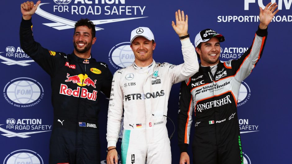 Rosberg takes pole after Hamilton crashes