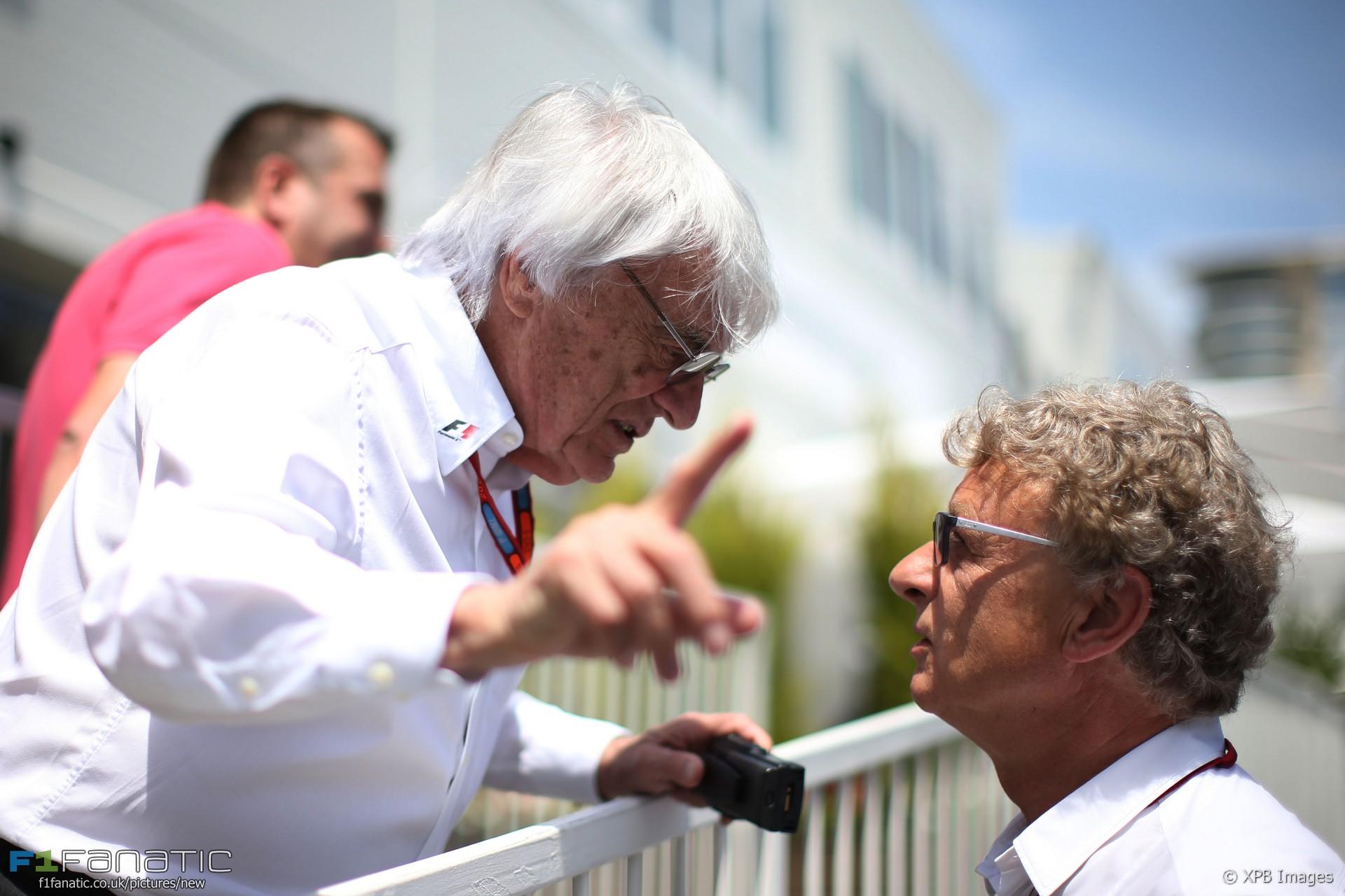 Bernie Ecclestone, Hermann Tilke, Baku, 2016