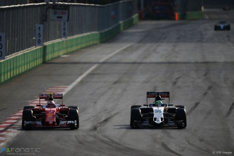 Kimi Raikkonen, Ferrari, Baku City Circuit, 2016