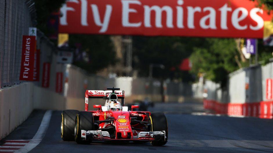 Sebastian Vettel, Ferrari, Baku City Circuit, 2016