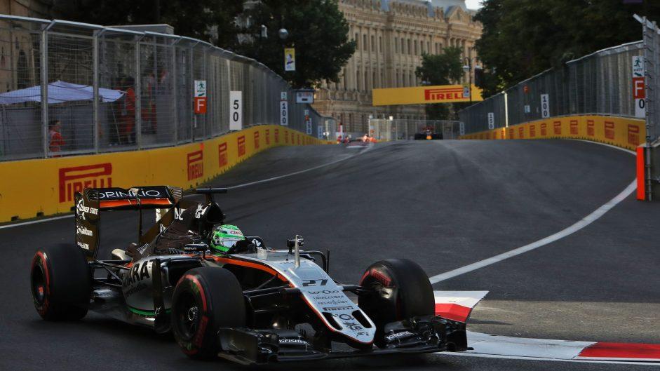 Nico Hulkenberg, Force India, Baku City Circuit, 2016
