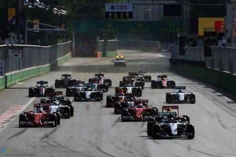 Start, Baku City Circuit, 2016