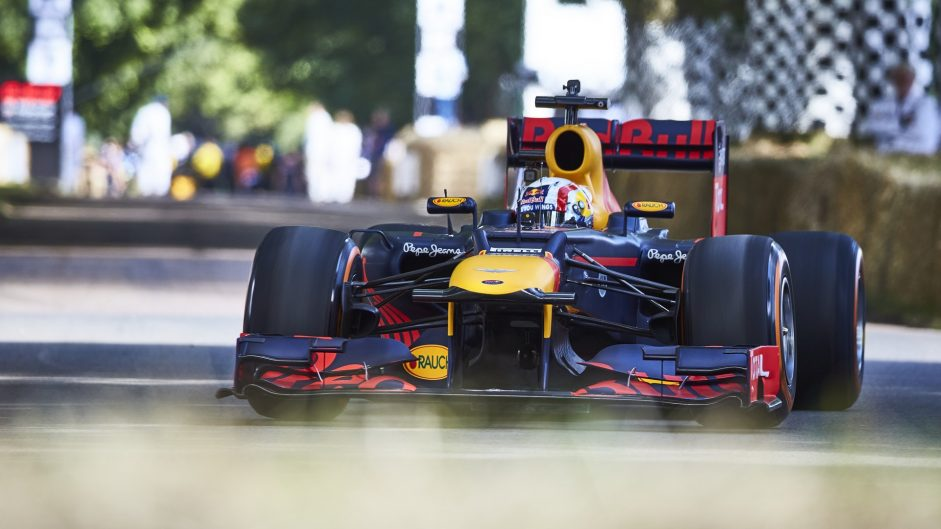 Pierre Gasly, Red Bull RB8, Goodwood Festival of Speed, 2016