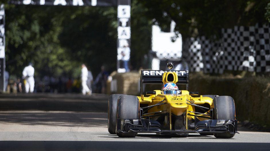 Jolyon Palmer, Renault (Lotus) E21, Goodwood Festival of Speed, 2016