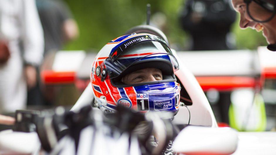 Jenson Button, McLaren MP4/2, Goodwood Festival of Speed, 2016