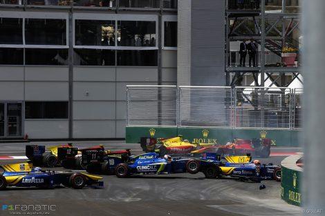 Start, GP2, Baku City Circuit, 2016