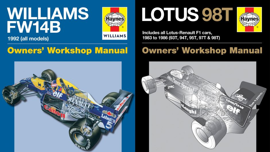 Williams FW14B and Lotus 98T Haynes manuals reviewed