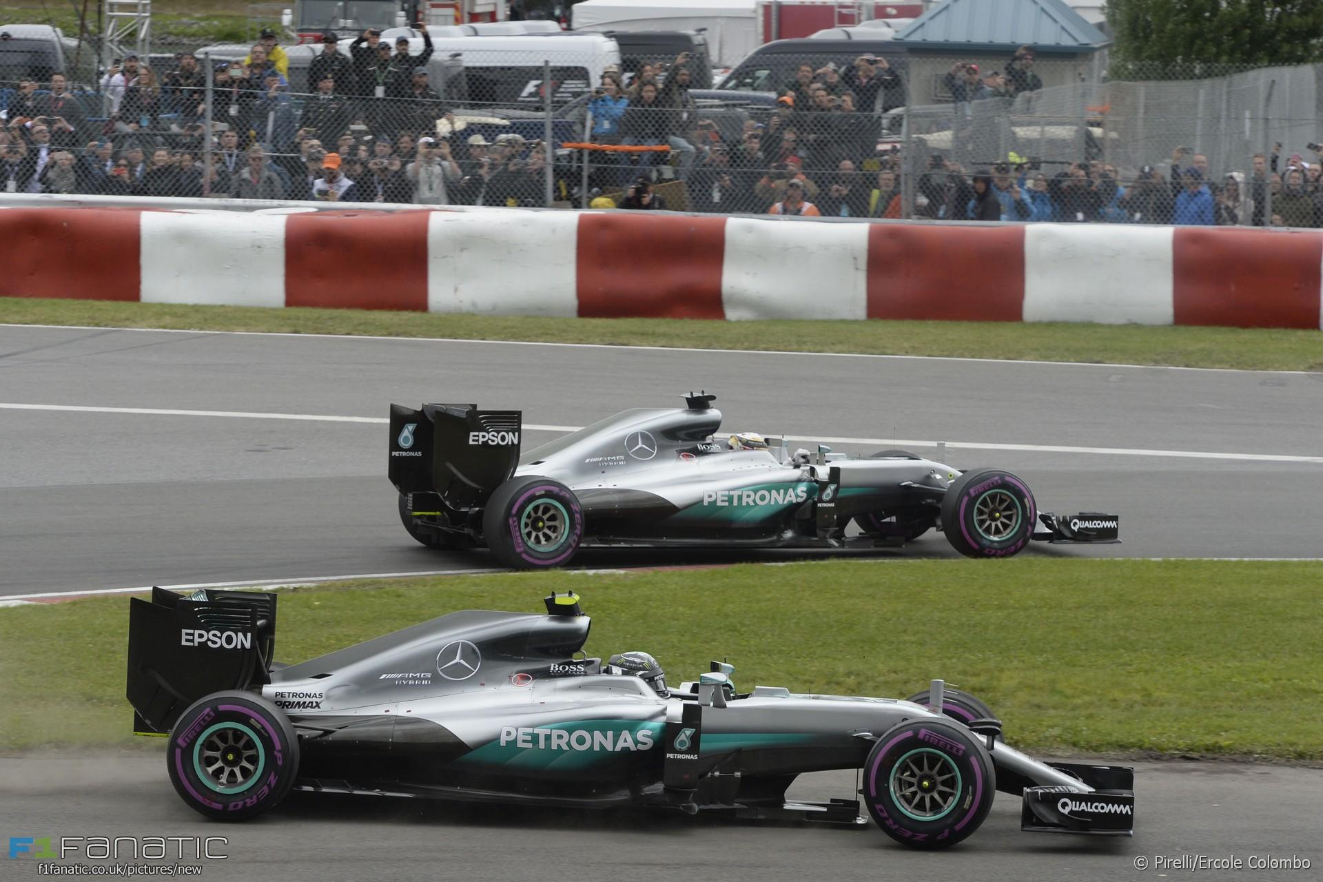 Lewis Hamilton, Nico Rosberg, Mercedes, Circuit Gilles Villeneuve, 2016