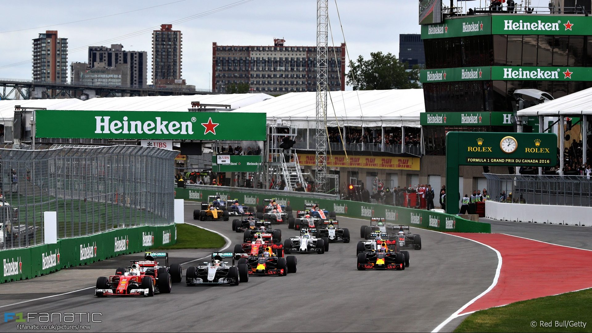 Start, Circuit Gilles Villeneuve, 2016