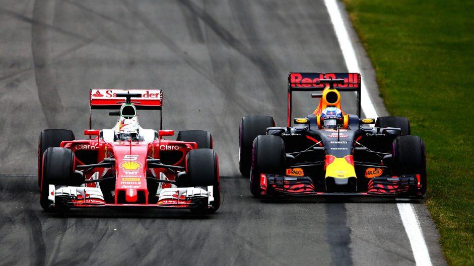 Sebastian Vettel, Daniel Ricciardo, Circuit Gilles Villeneuve, 2016