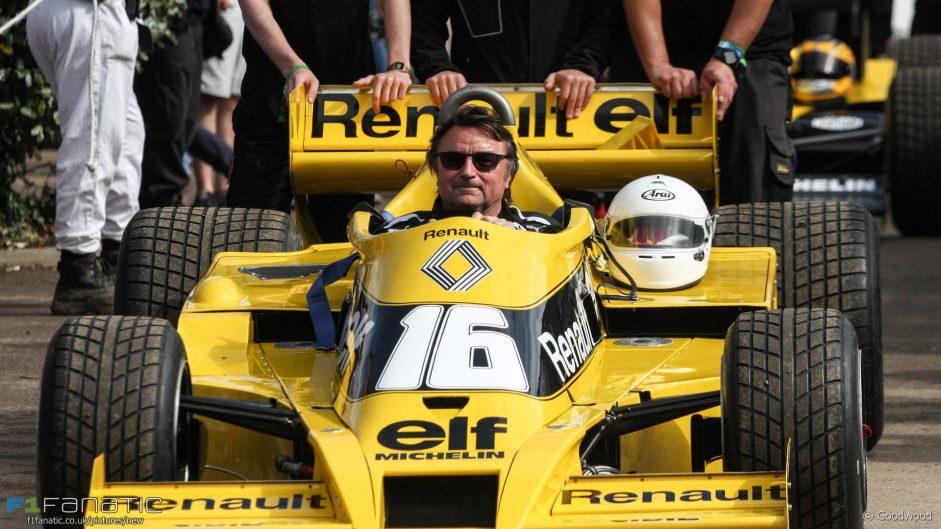 Rene Arnoux, Renault RS01, Goodwood Festival of Speed, 2016