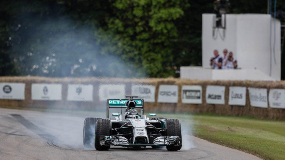 Nico Rosberg, Mercedes W05, Goodwood Festival of Speed, 2016