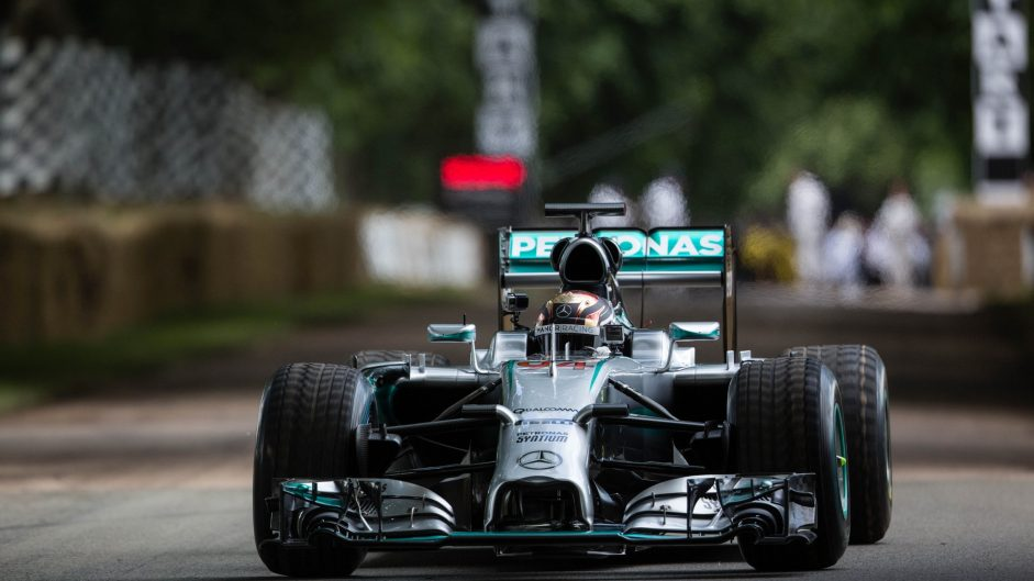 Pascal Wehrlein, Mercedes W05, Goodwood Festival of Speed, 2016