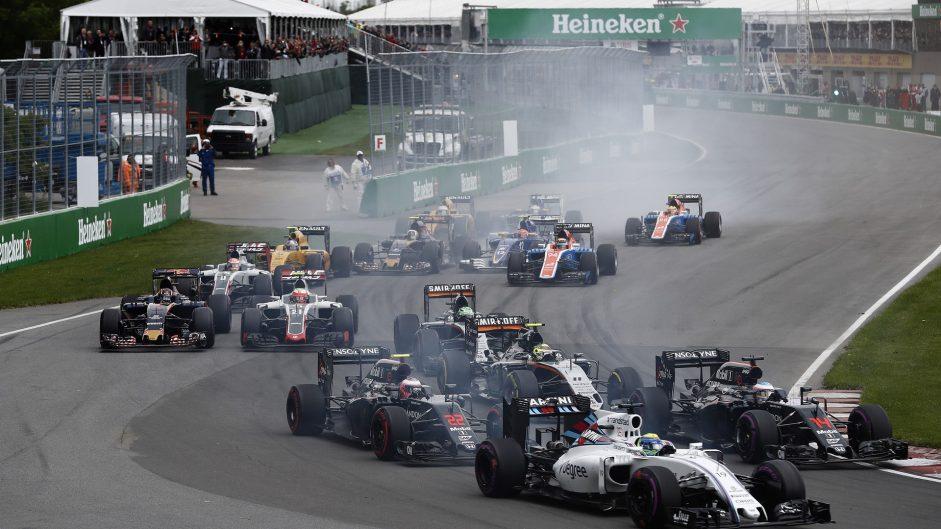 Start, Circuit Gilles Villeneuve, 2016