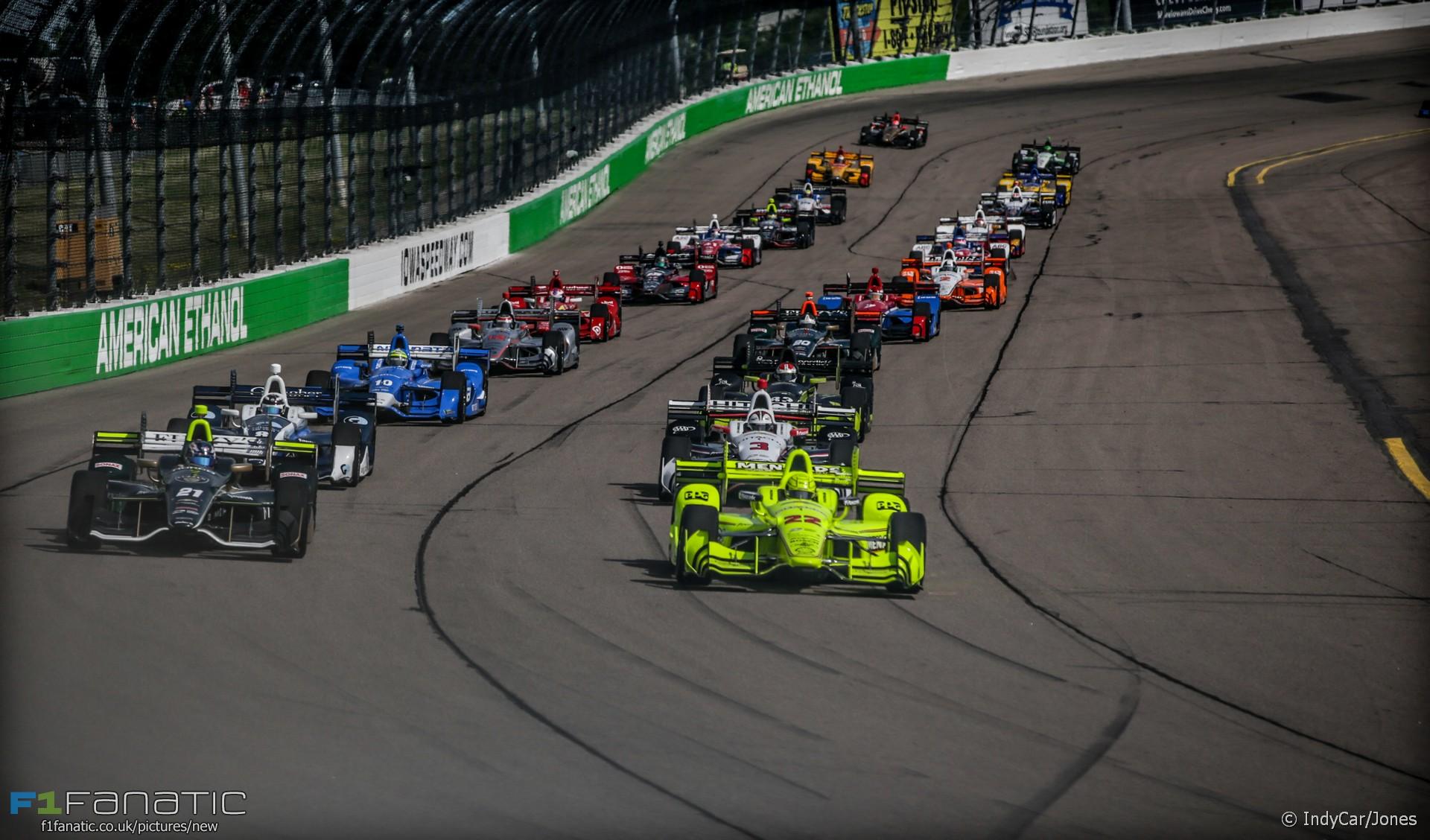 Start, IndyCar, Iowa, 2016