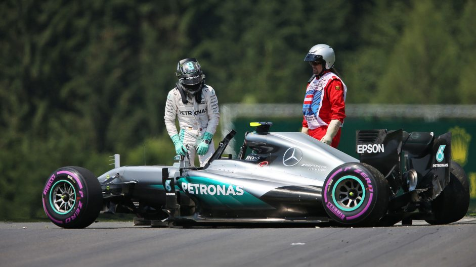 Ferrari one-two in final practice as Rosberg crashes