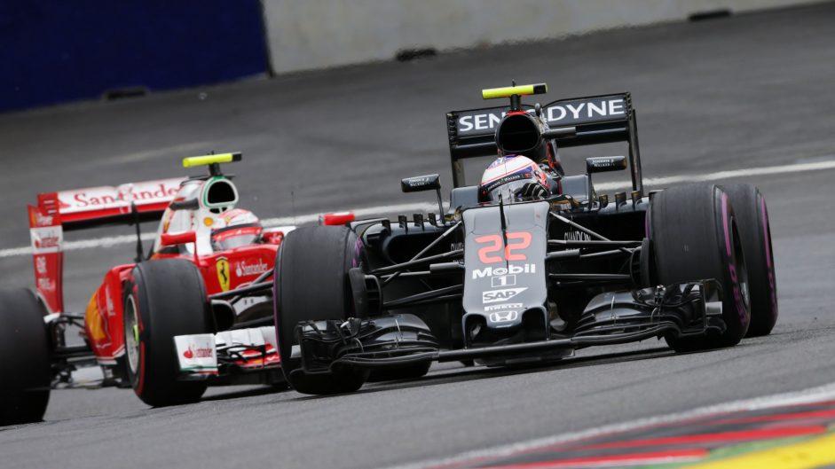 Jenson Button, McLaren, Red Bull Ring, 2016
